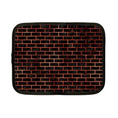 Brick1 Black Marble & Copper Paint (r) Netbook Case (small)  by trendistuff