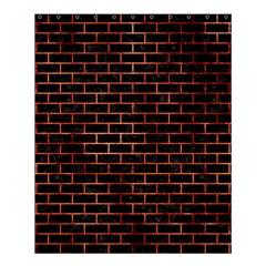 Brick1 Black Marble & Copper Paint (r) Shower Curtain 60  X 72  (medium)  by trendistuff