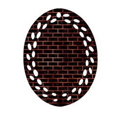 Brick1 Black Marble & Copper Paint (r) Oval Filigree Ornament (two Sides) by trendistuff