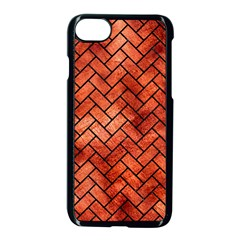 Brick2 Black Marble & Copper Paint Apple Iphone 7 Seamless Case (black) by trendistuff