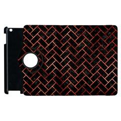 Brick2 Black Marble & Copper Paint (r) Apple Ipad 2 Flip 360 Case by trendistuff