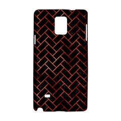 Brick2 Black Marble & Copper Paint (r) Samsung Galaxy Note 4 Hardshell Case by trendistuff