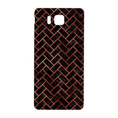 Brick2 Black Marble & Copper Paint (r) Samsung Galaxy Alpha Hardshell Back Case by trendistuff