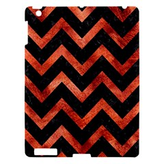 Chevron9 Black Marble & Copper Paint (r) Apple Ipad 3/4 Hardshell Case by trendistuff