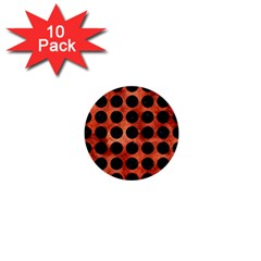 Circles1 Black Marble & Copper Paint 1  Mini Buttons (10 Pack)  by trendistuff