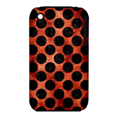 Circles2 Black Marble & Copper Paint Iphone 3s/3gs by trendistuff