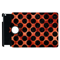 Circles2 Black Marble & Copper Paint Apple Ipad 2 Flip 360 Case by trendistuff