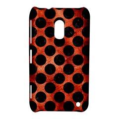 Circles2 Black Marble & Copper Paint Nokia Lumia 620 by trendistuff