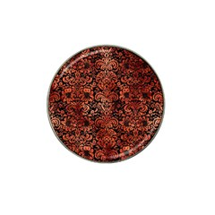 Damask2 Black Marble & Copper Paint (r) Hat Clip Ball Marker by trendistuff