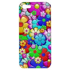Flowers Ornament Decoration Apple Iphone 5 Hardshell Case by Celenk