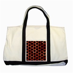 Hexagon2 Black Marble & Copper Paint (r) Two Tone Tote Bag by trendistuff
