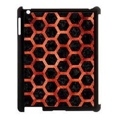 Hexagon2 Black Marble & Copper Paint (r) Apple Ipad 3/4 Case (black) by trendistuff