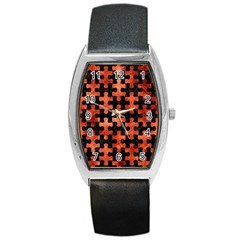 Puzzle1 Black Marble & Copper Paint Barrel Style Metal Watch by trendistuff