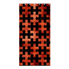 Puzzle1 Black Marble & Copper Paint Shower Curtain 36  X 72  (stall)  by trendistuff