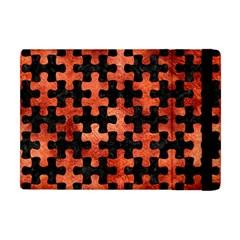 Puzzle1 Black Marble & Copper Paint Apple Ipad Mini Flip Case by trendistuff