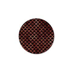 Scales1 Black Marble & Copper Paint (r) Golf Ball Marker (10 Pack) by trendistuff