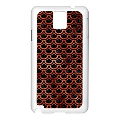 Scales2 Black Marble & Copper Paint (r) Samsung Galaxy Note 3 N9005 Case (white) by trendistuff