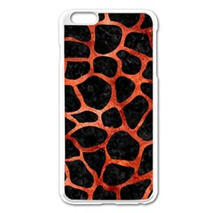 Skin1 Black Marble & Copper Paint Apple Iphone 6 Plus/6s Plus Enamel White Case by trendistuff