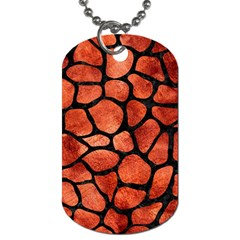 Skin1 Black Marble & Copper Paint (r) Dog Tag (one Side) by trendistuff