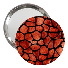 Skin1 Black Marble & Copper Paint (r) 3  Handbag Mirrors by trendistuff