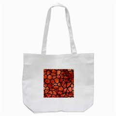 Skin1 Black Marble & Copper Paint (r) Tote Bag (white) by trendistuff
