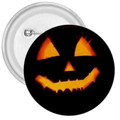 Pumpkin Helloween Face Autumn 3  Buttons by Celenk