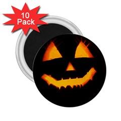 Pumpkin Helloween Face Autumn 2 25  Magnets (10 Pack)