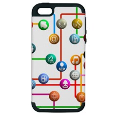 Icon Media Social Network Apple Iphone 5 Hardshell Case (pc+silicone) by Celenk