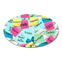 Stickies Post It List Business Oval Magnet by Celenk
