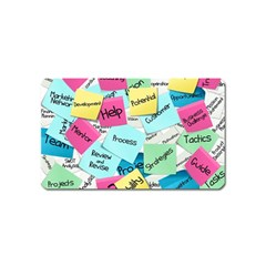 Stickies Post It List Business Magnet (name Card) by Celenk