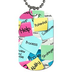 Stickies Post It List Business Dog Tag (two Sides) by Celenk