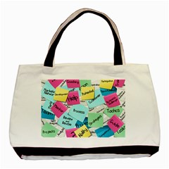Stickies Post It List Business Basic Tote Bag by Celenk