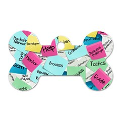 Stickies Post It List Business Dog Tag Bone (two Sides) by Celenk