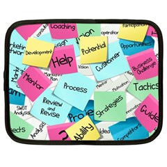 Stickies Post It List Business Netbook Case (xl)  by Celenk