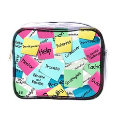 Stickies Post It List Business Mini Toiletries Bags by Celenk
