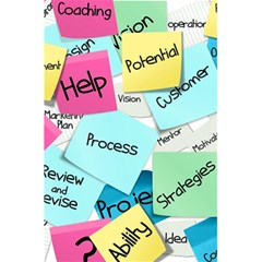 Stickies Post It List Business 5 5  X 8 5  Notebooks by Celenk