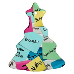 Stickies Post It List Business Ornament (christmas Tree)  by Celenk
