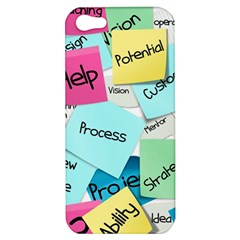 Stickies Post It List Business Apple Iphone 5 Hardshell Case by Celenk