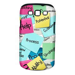 Stickies Post It List Business Samsung Galaxy S Iii Classic Hardshell Case (pc+silicone) by Celenk