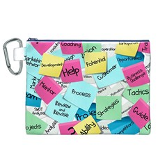 Stickies Post It List Business Canvas Cosmetic Bag (xl) by Celenk