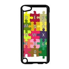 Puzzle Part Letters Abc Education Apple Ipod Touch 5 Case (black) by Celenk