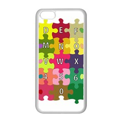 Puzzle Part Letters Abc Education Apple Iphone 5c Seamless Case (white) by Celenk