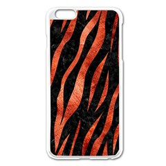 Skin3 Black Marble & Copper Paint (r) Apple Iphone 6 Plus/6s Plus Enamel White Case by trendistuff