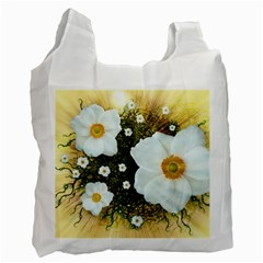 Summer Anemone Sylvestris Recycle Bag (one Side) by Celenk