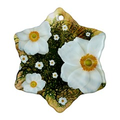 Summer Anemone Sylvestris Ornament (snowflake) by Celenk