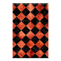 Square2 Black Marble & Copper Paint Shower Curtain 48  X 72  (small)  by trendistuff