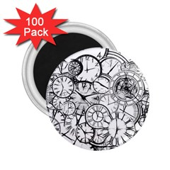 Time Clock Watches Time Of 2 25  Magnets (100 Pack)  by Celenk