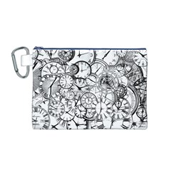 Time Clock Watches Time Of Canvas Cosmetic Bag (m)
