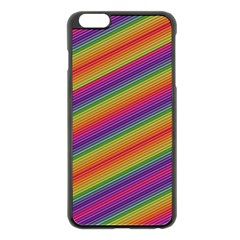 Spectrum Psychedelic Green Apple Iphone 6 Plus/6s Plus Black Enamel Case by Celenk