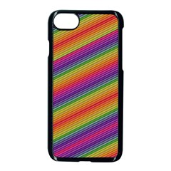 Spectrum Psychedelic Green Apple Iphone 7 Seamless Case (black) by Celenk